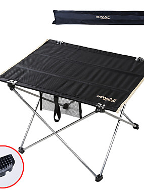 cheap Sports & Outdoors-Camping Table with Side Pocket Portable Ultra Light (UL) Foldable Compact Aluminium alloy Oxford for 1 - 2 person Camping / Hiking Hunting Fishing Beach Autumn / Fall Spring Black