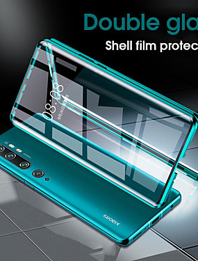cheap Xiaomi Case-Magnetic Case for Xiaomi Mi 10 10 Pro CC9 Pro Note 10 Note 10 Pro Metal Double Side Tempered Glass Phone Protective Case Cover for Xiaomi Creative Phone Case