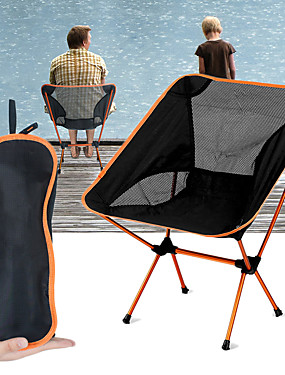 cheap Sports & Outdoors-Jungle King Camping Chair Breathable Ultra Light (UL) Foldable Durable Aluminium Alloy 7005 Mesh for 1 person Camping / Hiking Hunting Fishing Cycling / Bike Autumn / Fall Spring Orange Blue Red Dark
