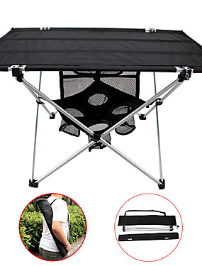 cheap Sports & Outdoors-Camping Table with Side Pocket Portable Lightweight Ultra Light (UL) Foldable Aluminium Alloy 7005 Oxford for 3 - 4 person Fishing Hiking Beach Camping Spring Summer Black