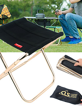 cheap Sports & Outdoors-Camping Stool Portable Lightweight Mini Foldable Oxford Cloth Aluminium Alloy for 1 person Fishing Camping Travel Autumn / Fall Spring Black