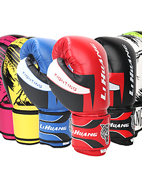 cheap Sports & Outdoors-Boxing Gloves For Martial Arts Muay Thai MMA Kickboxing Full Finger Gloves Durable Shock Absorption Breathable Shockproof Adults Men's Women's - Red Blue Black