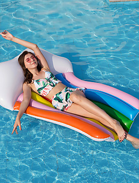 cheap Sports & Outdoors-Inflatable Pool Floats PVC Inflatable Durable Swimming Waterskiing & Towsports for Adults 180*110 cm