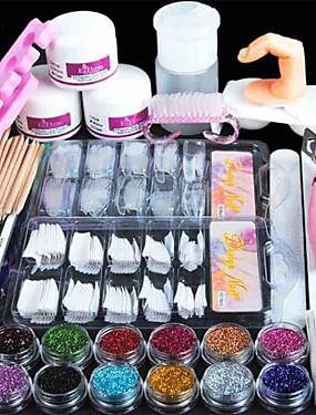 cheap Nail Kits & Sets-Nail Designs 2020 All In One 66 pcs Nail Acrylic Kits Nail Art Tools Professional  False Nail UV Gel Decorations  Convenient Stylish Daily Nail Art Tool for Finger Nail