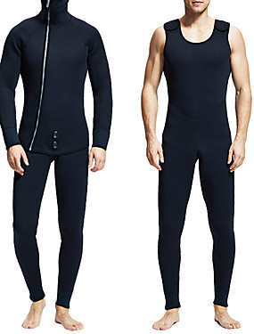 cheap Sports & Outdoors-MYLEDI Men's Full Wetsuit 7mm SCR Neoprene Diving Suit Windproof Anatomic Design Long Sleeve 2-Piece Solid Colored Autumn / Fall Spring Summer / Winter / Stretchy