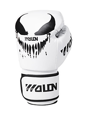 cheap Sports & Outdoors-Boxing Gloves For Martial Arts Muay Thai MMA Kickboxing Full Finger Gloves Durable Shock Absorption Breathable Shockproof Adults Kids Men's Women's - White+Red Yellow White