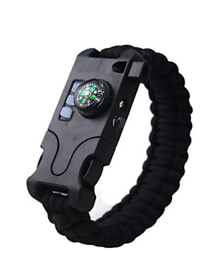 cheap Sports & Outdoors-Paracord Bracelet Compasses Alarm Flashlight Compass Easy to Carry Pocket Braided Rope Plastics Straw Hiking Camping / Hiking / Caving Traveling Emergency Black / Orange Army Green Camouflage Green