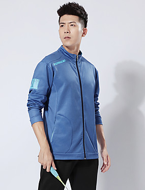 cheap Sports & Outdoors-Men's Tennis Badminton Table Tennis Pants / Trousers Track Jacket Clothing Suit Solid Color Breathable Quick Dry Soft Autumn / Fall Spring Winter Sports Outdoor / High Elasticity