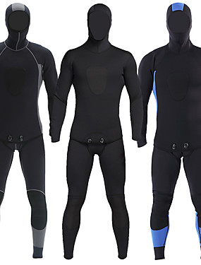 cheap Sports & Outdoors-MYLEDI Men's Full Wetsuit 3mm SCR Neoprene Diving Suit Windproof Anatomic Design Long Sleeve 2-Piece Patchwork Autumn / Fall Spring Summer / Winter / Stretchy