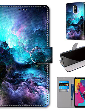 cheap Other Phone Case-Case For Motorola Moto G8 Play / Moto G8 Plus / MOTO E6 plus Wallet / Card Holder / with Stand Full Body Cases Colorful Clouds PU Leather / TPU for MOTO E6 Play / MOTO G7 / MOTO G7 Plus