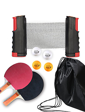 cheap Golf, Badminton & Table Tennis-Ping Pong Paddle Set with Balls and Net Indoor Table Tennis Portable Anti-Wear Durable 1 set 2 * Ping Pong Paddles 1*Ping Pong net 4* Ping Pong Balls Sports
