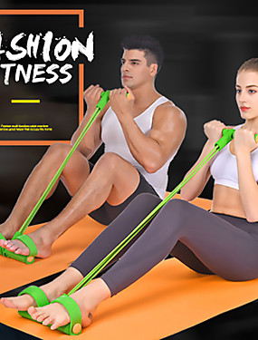 cheap Sports & Outdoors-Pedal Resistance Band Sit-up Pull Rope Sports Latex Indoor Fitness Stretchy Muscular Bodyweight Training Muscle Building Weight Loss For All / Teenager