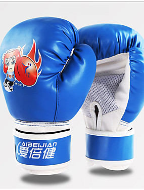 cheap Sports & Outdoors-Boxing Gloves For Martial Arts Muay Thai MMA Kickboxing Full Finger Gloves Durable Shock Absorption Breathable Shockproof Adults Kids Men's Women's - Black Red Blue