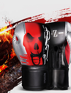 cheap Sports & Outdoors-Boxing Gloves For Martial Arts Muay Thai MMA Kickboxing Full Finger Gloves Durable Shock Absorption Breathable Shockproof Adults Men's Women's - Red / White Black+Sliver