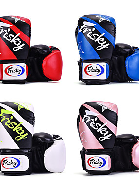 cheap Sports & Outdoors-Boxing Gloves For Martial Arts Muay Thai MMA Kickboxing Durable Shock Absorption Breathable Shockproof Adults Kids Men's Women's - Red black White / Black Bule / Black