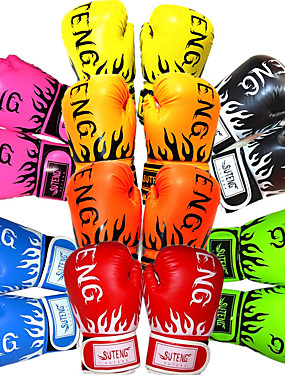 cheap Sports & Outdoors-Boxing Gloves For Martial Arts Muay Thai MMA Kickboxing Full Finger Gloves Durable Shock Absorption Breathable Shockproof Adults Men's Women's - Yellow Red Daffodil