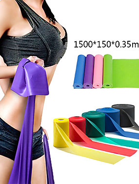 cheap Sports & Outdoors-Exercise Resistance Bands 1 pcs Sports TPE Home Workout Gym Yoga Odor Free Eco-friendly Non Toxic High Elasticity Strength Training Physical Therapy Leg Shaping For Men Women Waist & Back Leg Abdomen