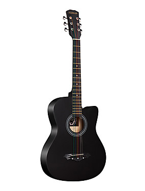 cheap Musical Instruments-Guitar Wooden Professional Tools 38 Inch Black Acoustic Professional Musical Instrument for Beginners and Youths Students