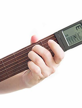 cheap Musical Instruments-Pocket Guitar Chord Practice Tool Rotatable Portable Wooden Musical Instruments with Auxiliary Screen Professional Musical Instrument for Beginners and Youths Students