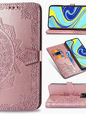 cheap Xiaomi Case-Mandala Embossed Leather Wallet Flip Case for Xiaomi Redmi Note 9 Pro Max Note 8 Pro Note 8T Redmi 8 8A Redmi 7 7A K30 K20 Mi 10 Pro Mi Note 10 Mi 9T Mi 9 SE Mi CC9 Pro CC9e Card Holder Stand Cover