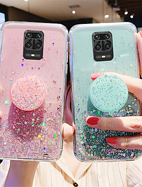 cheap Xiaomi Case-Glitter Bling Case For Xiaomi Redmi Note 9 / 9s / 9Pro / 9Pro Max / 8T / 8Pro / 8Pro / 7 / 7S / 7Pro  / 6A / K30 Pro / K20 Case For Xiaomi Mi 10 / 10Pro / CC9Pro / F1 / 9se / 8Lite Stand Holder Cover