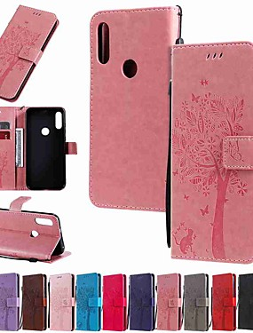cheap Other Phone Case-Case For Motorola MOTO G6 / Moto G6 Plus / Moto G7 Wallet / Card Holder / with Stand Full Body Cases Tree PU Leather / TPU
