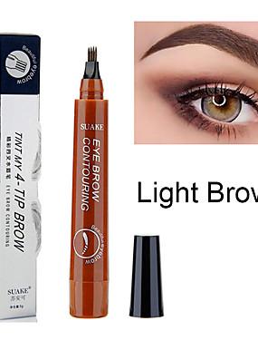 cheap Makeup For Eyes-1pcs Microblading Eyebrow Pen Waterproof Fork Tip Eyebrow Tattoo Pencil Long Lasting Professional Fine Sketch Liquid Eye Brow Pencil