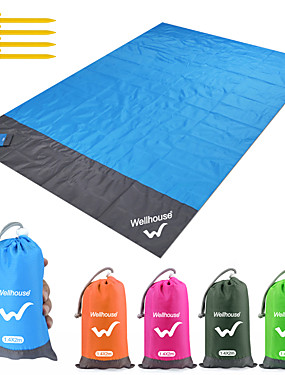 cheap Sports & Outdoors-Camping Mat Picnic Blanket Beach Blanket Outdoor Camping Waterproof Portable Ultra Light (UL) Wear Resistance Ground Mat TPU Polyester 140*200 cm for 5 - 7 person Camping Hiking Traveling Summer