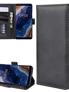 cheap Other Phone Case-For Nokia 9 PureView Wallet Stand Leather Cell Phone Case with Wallet & Holder & Card Slots