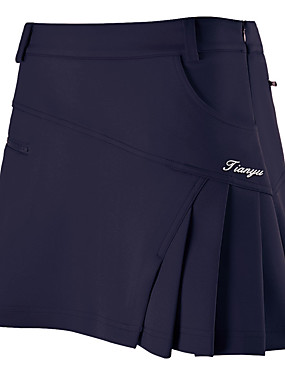 cheap Golf, Badminton & Table Tennis-Women's Tennis Golf Outdoor Exercise Skirt Skort Solid Colored Breathable Wearable Spring, Fall, Winter, Summer Sports & Outdoor / Stretchy