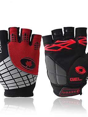 cheap Sports & Outdoors-Bike Gloves / Cycling Gloves Windproof Anti-Slip Anti-Shock Fingerless Gloves Sports Gloves Lycra Red Orange Green for Outdoor Exercise Cycling / Bike
