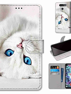 cheap Other Phone Case-Case For LG LG X Power / LG V50 / LG Stylo 4 Wallet / Card Holder / with Stand Full Body Cases PU Leather / TPU