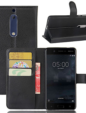 cheap Other Phone Case-For Nokia 8 / Nokia 9 / Nokia 9 PureView Litchi Texture Horizontal Flip Leather Case with Wallet & Holder & Card Slots