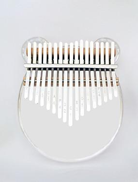halpa Soittimet-kalimba Sormi Mbira Sanza Peukalo Piano 17 Key Arylic Kristalli Kannettava Soitin paras lahja lapsille ja aloittelijoille