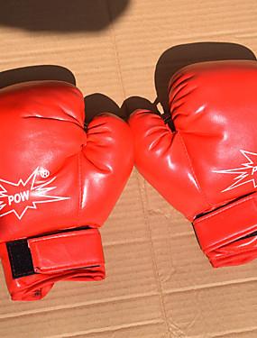 رخيصةأون رياضة والخارجية-قفازات التمرين / قفازات ملاكمة الحقيبة / قفازات تمرين الملاكمة إلى الملاكمة, رياضة وترفيه, Fitness, مواي تاي اصبع كامل مقاوم للماء,      قابل للبسط, واقي PU أحمر