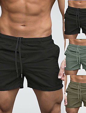 cheap Sports & Outdoors-Men's Swim Shorts Swim Trunks Bottoms Breathable Quick Dry Drawstring - Swimming Beach Water Sports Solid Colored Summer / Micro-elastic
