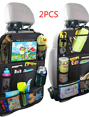 cheap Car Holder-New Arrival Convenient Car Seat Back Organizer Multi-Pocket Storage Bag Box Case Car storage bag Tablet Holder Storage Organizer-2PCS