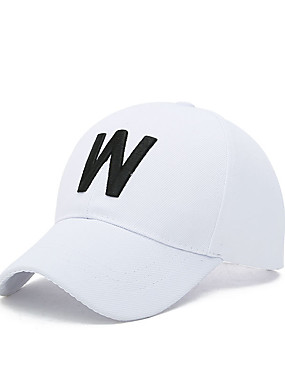 cheap Sports & Outdoors-Women's Unisex Hat Cap Classic Sunscreen Comfortable for Leisure Sports Baseball Spring Summer Fall Black White
