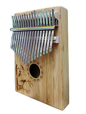 halpa Soittimet-kalimba Sormi Mbira Sanza Peukalo Piano 17 Key Puinen Bambu Kannettava Soitin paras lahja lapsille ja aloittelijoille