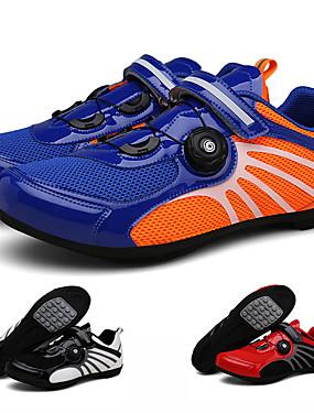 cheap Sports & Outdoors-Adults' Bike Shoes Breathable Anti-Slip Mountain Bike MTB Road Cycling Cycling / Bike Red and White Blue+Orange Black / White Men's Women's Cycling Shoes