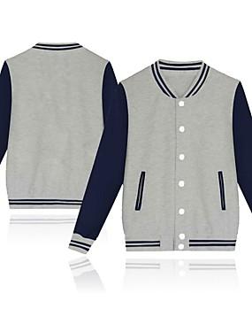 cheap Team Sports-Men's Baseball Jersey Sports Fashion Cotton Jacket Long Sleeve Activewear Breathable Warm Comfortable Black Pink Dark Navy