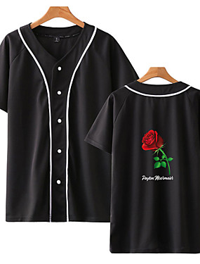 cheap Team Sports-Men's Baseball Jersey Sports Fashion Cotton Top Long Sleeve Activewear Breathable Quick Dry Comfortable Red and White Red / White Black / Red