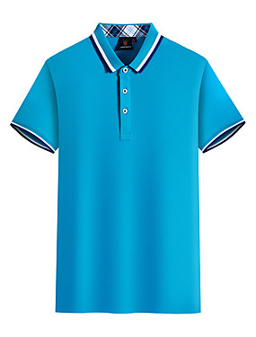 cheap Golf, Badminton & Table Tennis-Men's 1 Piece Golf Polos Shirt Solid Color Breathable Quick Dry Soft Summer Athleisure Outdoor / Cotton / Short Sleeve / Micro-elastic