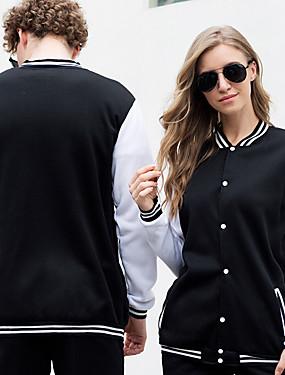 cheap Team Sports-Men's Women's Baseball Jersey Sports Fashion Cotton Jacket Long Sleeve Activewear Breathable Comfortable Black Pink Dark Navy