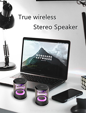 cheap Outdoor Speakers-Transparent magnetic wireless bluetooth speaker heavy bass colorful light cool color speaker D08S