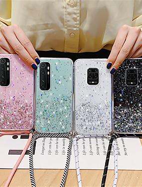cheap Xiaomi Case-Sparkle Glitter Strap Cord Chain Phone Necklace Lanyard Case For Xiaomi Mi Note 10 Lite CC9 Pro Poco F2 Pro x2 F1 Redmi Note 9 9s 8T 8 Pro 8A 10x K30 K30Pro Zoom  K20