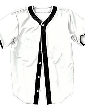 levne Týmové sporty-Pánské Baseballový dres Sportovní Módní Polyester Vrchní část oděvu Krátký rukáv Sportovní oděvy Prodyšné Rychleschnoucí Pohodlné Bílá