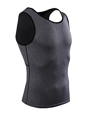 cheap Sports & Outdoors-Men's Compression Shirt Sleeveless Compression Vest / Gilet Base Layer Tank Top Lightweight Breathable Quick Dry Soft Sweat-wicking Red Blue Grey Road Bike Mountain Bike MTB Running Stretchy