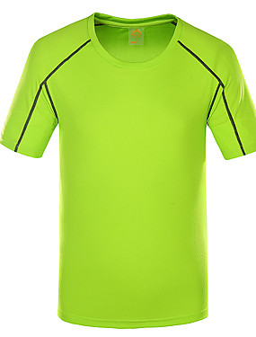 cheap Sports & Outdoors-Wolfcavalry? Men's Hiking Tee shirt Short Sleeve Outdoor Breathable Quick Dry Stretchy Comfortable Tee T-shirt Top Spring Summer POLY Crew Neck Hunting Fishing Climbing Black Army Green Blue