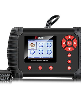 cheap Diagnostic Tools In US Warehouse-VIDENT iLINK400 Multi-System Scan Tool for Mercedes Benz/Smart/Sprinter Automotive Full System Code Reader OBDII ABS SRS Engine Transmission etc with Service Light Reset Functions